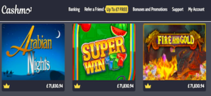 cashmo casino top games