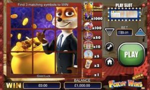 instant win slots, scratch cards and table games