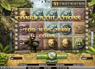 Gonzo's Quest Free Slots Big Wins