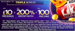 free signup + deposit match